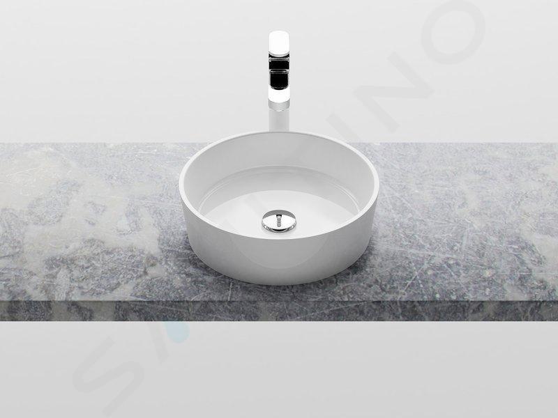 Ravak Moon - Umývadlo na dosku, priemer400mm, biela XJN01300000