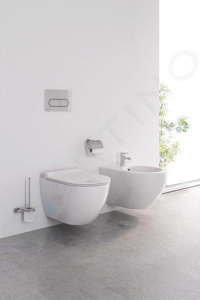 Ravak Chrome - WC závěsné Uni, RimOff, bílá X01535