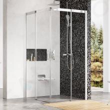 Ravak Matrix - Štvordielny rohový sprchovací kút MSRV4-80, 785mm – 805 mmx785mm – 805 mmx1950 mm – farba svetlý hliník, sklo transparent 1WV44C00Z1