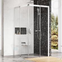 Ravak Matrix - Štvordielny rohový sprchovací kút MSRV4-90, 885mm – 905 mmx885mm – 905 mmx1950 mm – farba biela, sklo transparent 1WV77100Z1