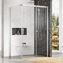 Ravak Matrix - Sprchovací kút MSDPS-100/100 L, 985mm – 1005 mmx985mm – 1005 mmx1950 mm – farba svetlý hliník, sklo transparent 0WLAAC00Z1