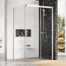 Ravak Matrix - Sprchovací kút MSDPS-100/100 R, 985mm – 1005 mmx985mm – 1005 mmx1950 mm – farba svetlý hliník, sklo transparent 0WPAAC00Z1