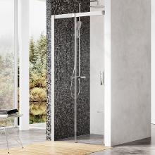 Ravak Matrix - Sprchové dvere posuvné dvojdielne MSD2-120 L, 1175mm – 1215mmx1950 mm – farba satin, sklo transparent 0WLG0U00Z1