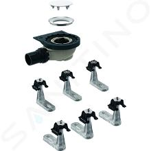 Geberit Setaplano - Sprchová odpadní souprava se 6 nožičkami pro sprchovou vaničku Setaplano, výška vodního uzávěru 50 mm 154.013.00.1