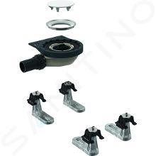 Geberit Setaplano - Súprava na hrubú montáž k sprchovej vaničke, výška vodného uzáveru 30 mm, d40 mm, 4 nohy 154.020.00.1