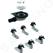 Geberit Setaplano - Súprava na hrubú montáž k sprchovej vaničke, výška vodného uzáveru 30 mm, d40 mm, 6 nôh 154.021.00.1