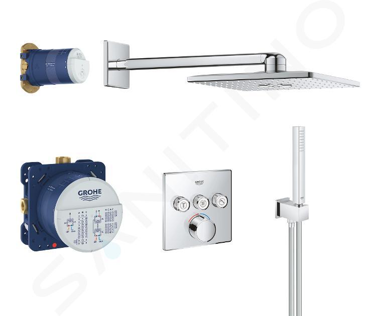 Grohe SmartControl Perfect - Set de douche avec mitigeur encastré, chrome 34712000