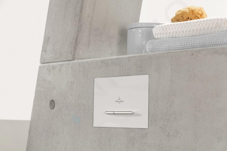 Villeroy & Boch ViConnect - Ovládací tlačítko 300S, 2 množství splachování, bílá/matný chrom 922169N5