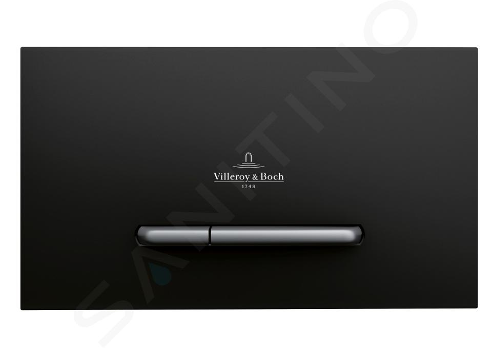Villeroy & Boch ViConnect - Placca di comando E300 - Black Matt / Chrome Matt 922169AN