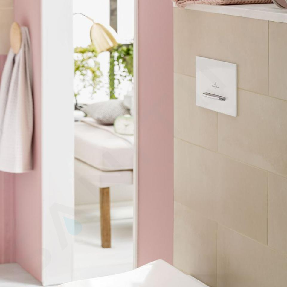 Villeroy & Boch ViConnect - WC-bedieningsplaat E300, wit/chroom 92216168