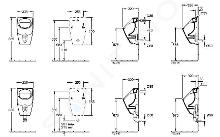 Villeroy & Boch O.novo - Absaug-Urinal, 335 x 560 x 320 mm - mit CeramicPlus, Alpinweiß 752300R1