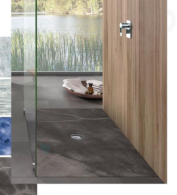 Villeroy & Boch Subway Infinity - Keramická sprchová vanička 1500x900x40 mm, Star Flower 623234VPD0
