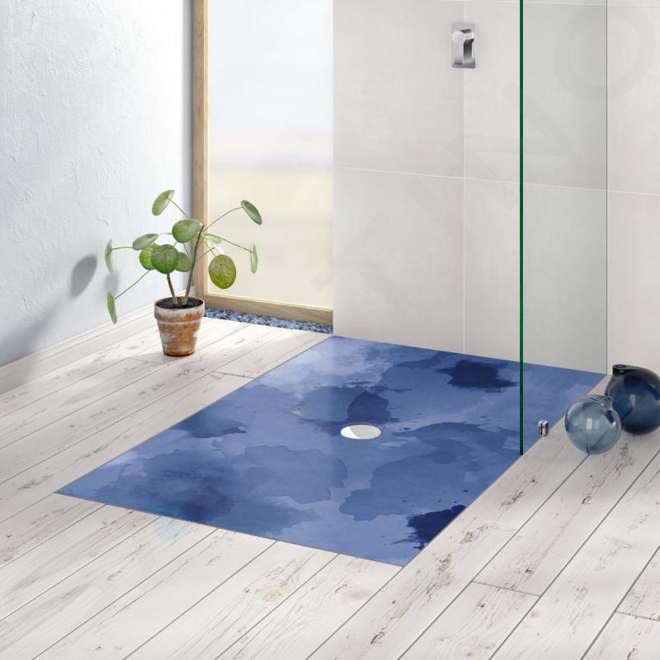 Villeroy & Boch Subway Infinity - Keramická sprchová vanička 1500x750x40 mm, Blue Lagoon 623232VPC9