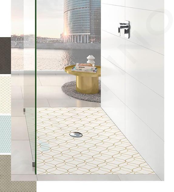 Villeroy & Boch Subway Infinity - Keramická sprchová vanička 1500x750x40 mm, Star Flower 623232VPD0