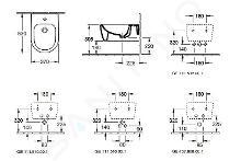 Villeroy & Boch Avento - Dusch-WC, Wandmontage, 530x370mm, CeramicPlus, Alpinweiß 54050001
