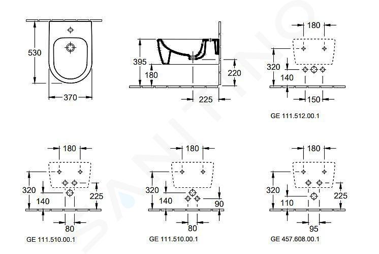 Villeroy & Boch Avento - Závěsný bidet 530x370 mm, CeramicPlus, alpská bílá 54050001