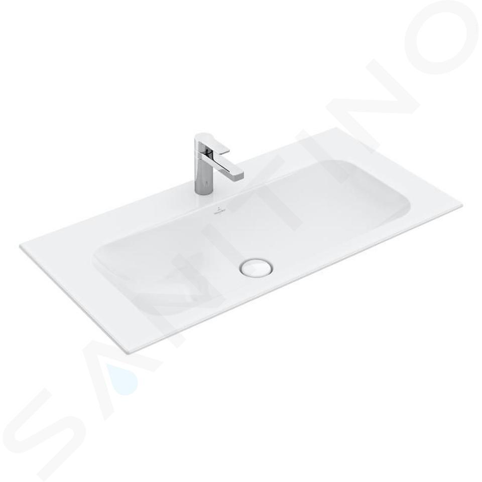 Villeroy & Boch Finion - Lavabo sans trop-plein, 800x500 mm, avec CeramicPlus, blanc alpin 416481R1