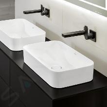 Villeroy & Boch Finion - Lavabo da appoggio senza troppopieno, 600x350 mm, con CeramicPlus, bianco alpino 414361R1