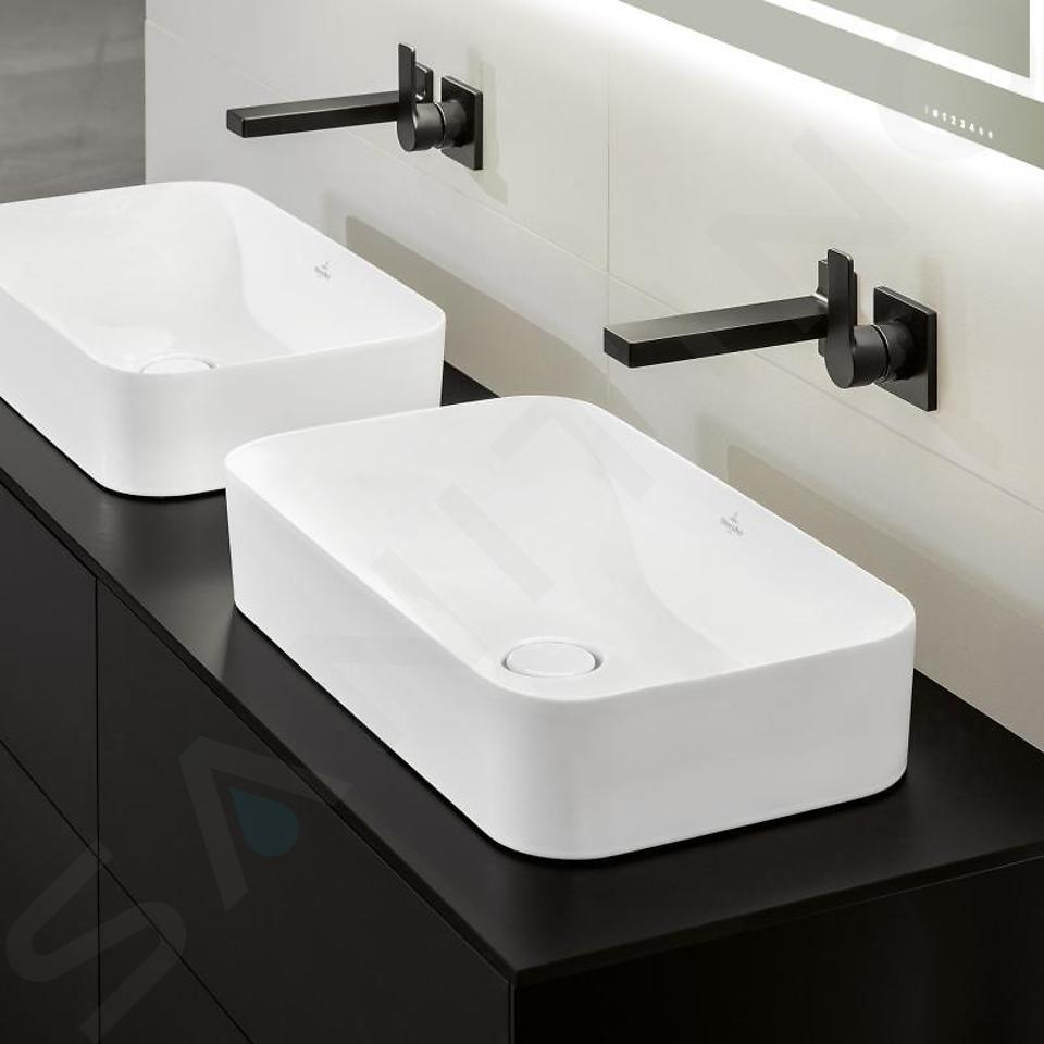 Villeroy & Boch Finion - Vasque sans trop-plein, 600x350 mm, avec CeramicPlus, blanc alpin 414361R1