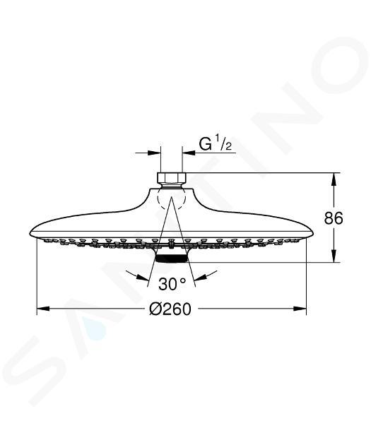 Grohe Euphoria SmartControl - Douche de tête 260, 3 jets, chrome 26457000