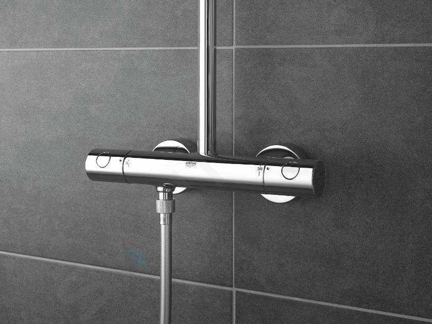 Grohe Tempesta Cosmopolitan - Set de douche avec thermostat, 210 mm, chrome 27922001