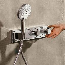 Hansgrohe RainSelect - Termostatická sprchová batéria pod omietku, na 2 výstupy, biela/chróm 15355400
