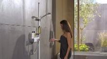 Hansgrohe Raindance - Sprchová souprava Select S 120, 3 proudy, EcoSmart 9 l/min, tyč 1,50 m, bílá/chrom 27647400