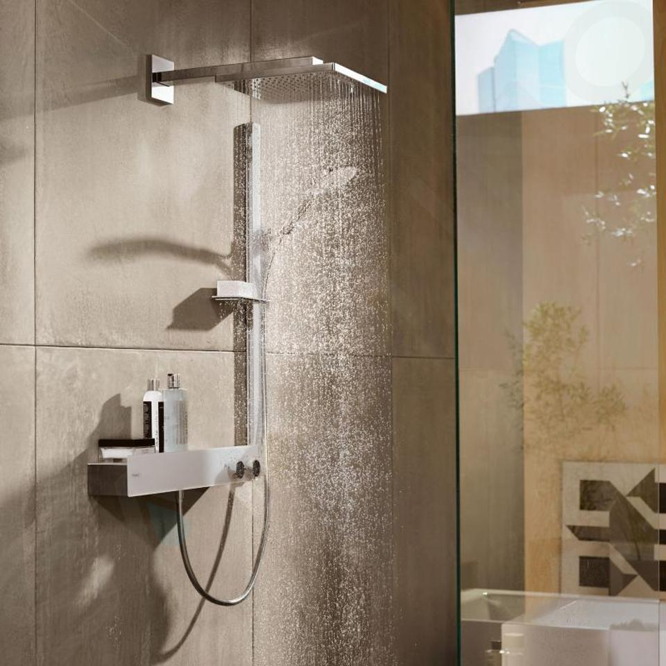 Hansgrohe Raindance Select S - Set de douche 120, 3 jets, EcoSmart 9 l/min, barre de douche 900 mm, blanc/chrome 27649400