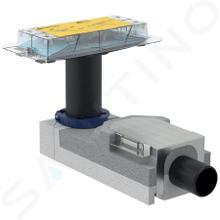 Geberit CleanLine - Rohbauset für Duschrinne, für Estrichhöhe am Einlauf 90–220 mm, Auslauf 50 mm 154.150.00.1