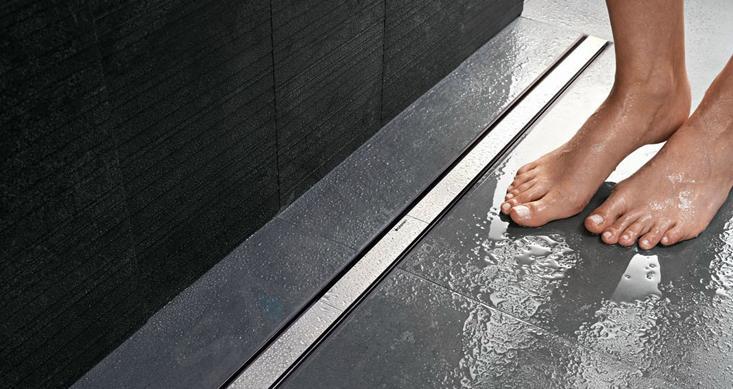 Geberit CleanLine - Nerezový sprchový kanálek, 300-900 mm, tmavý kov 154.450.00.1