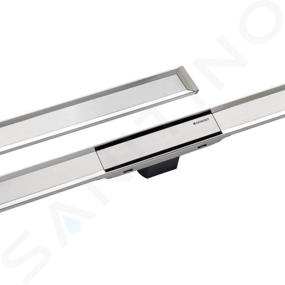 Geberit CleanLine - Nerezový sprchový kanálek, 300-900 mm, leštěný kov 154.450.KS.1