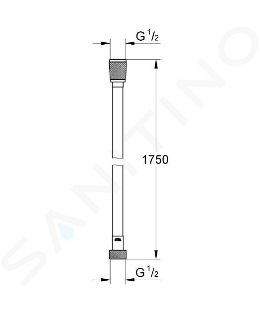 Grohe Flexibles - Flexible de douche Silverflex 1750 mm, nickel poli 28388BE0