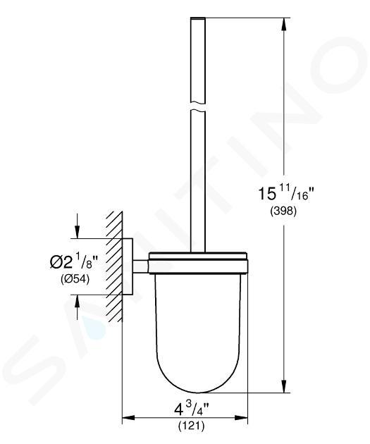 Grohe Essentials - Closetborstelhouder, geborsteld Warm Sunset 40374DL1