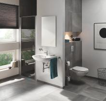 Grohe Bau Ceramic - Závěsné WC, Rimless, alpská bílá 39427000