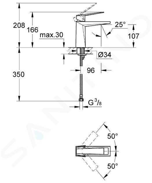 Grohe Allure Brilliant - Miscelatore monocomando per lavabo, cromato 23033000