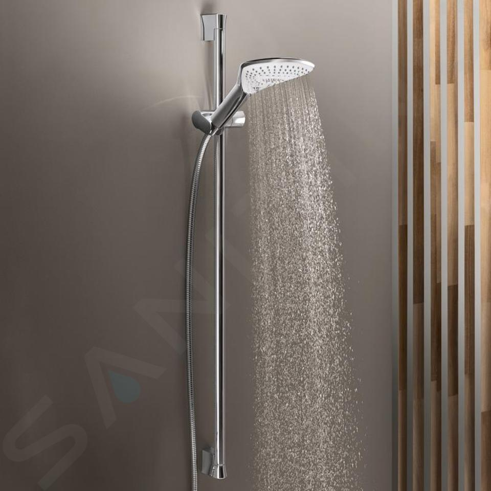 Kludi Fizz - Set tête de douche, flexible et barre de 900 mm, 3 jets chrome 6774005-00