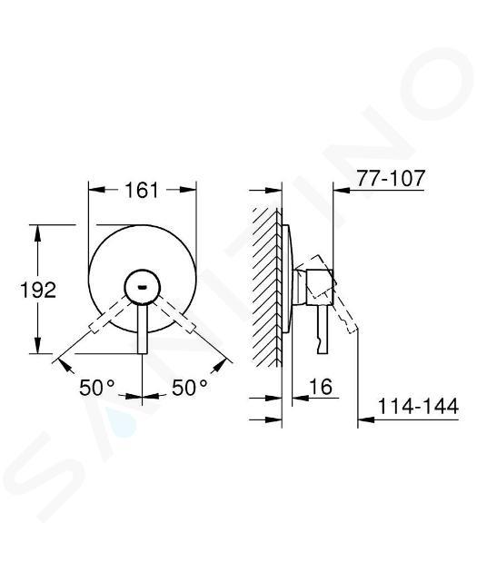 Grohe Essence - Sprchová baterie pod omítku, chrom 19286000