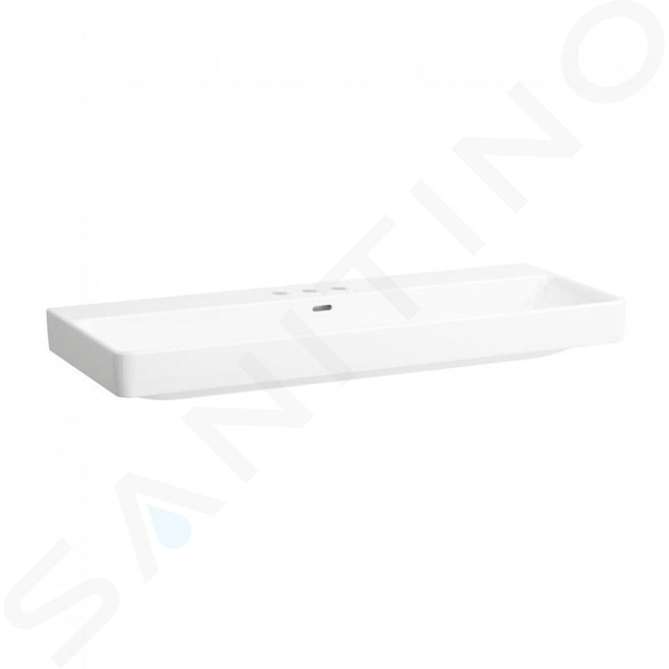 Laufen Pro S - Umyvadlo, 1200x465 mm, 3 otvory pro baterii, bílá H8149650001081