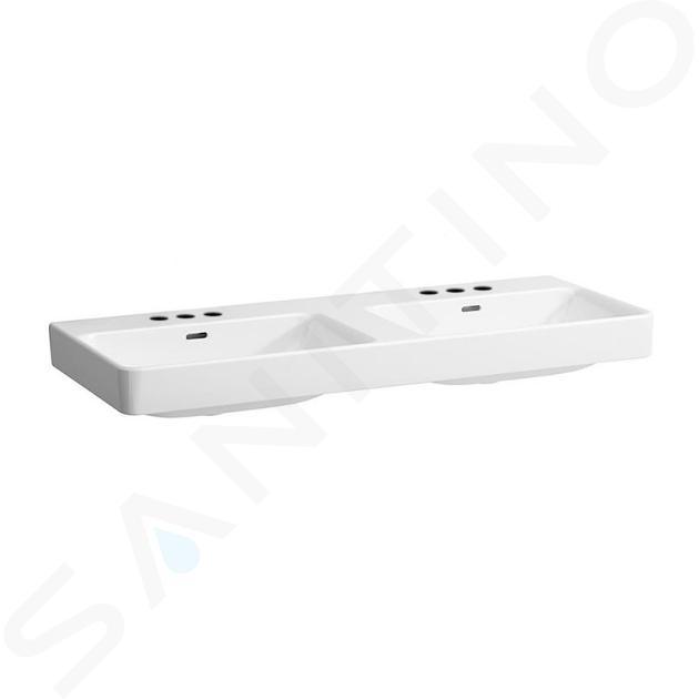 Laufen Pro S - Dvojumyvadlo, 1200x465 mm, se 6 otvory pro baterie, bílá H8149660001081