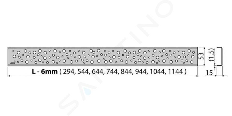 Alca plast Odtokové žlaby - Rošt pro liniový sprchový žlab 750, nerez/lesk BUBLE-750L