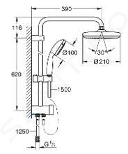 Grohe Tempesta New - Set de douche 210 avec inverseur, chrome 26381001
