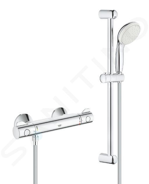 Grohe Grohtherm 800 - Set doccia 600 mm con miscelatore termostatico, cromato 34565001