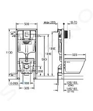 Grohe Solido - Bâti-support pour WC suspendu + cuvette et siège softclose 39186000 38528SET-KH