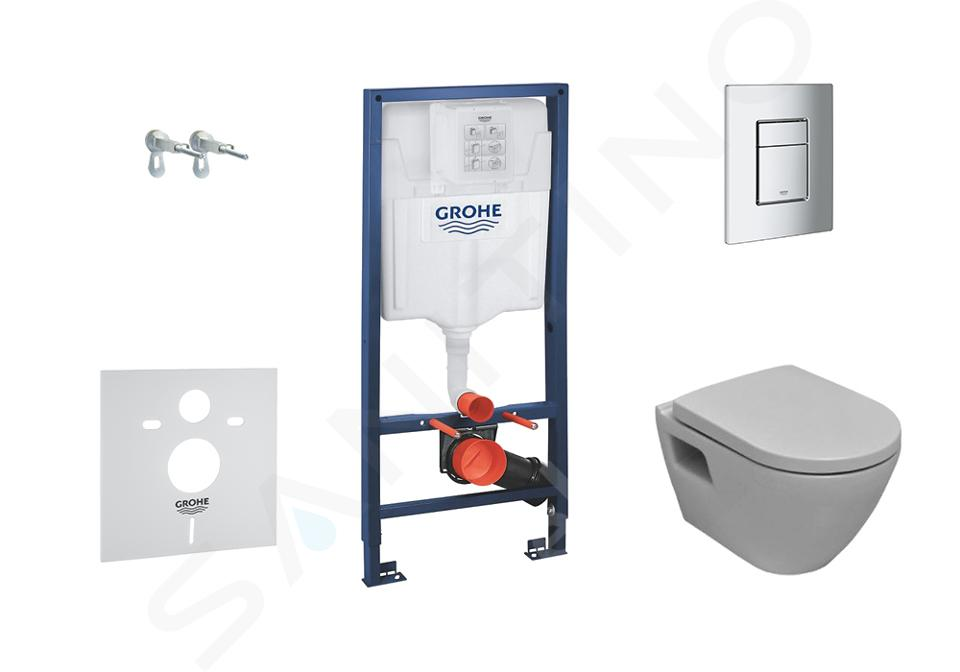 Grohe Solido - Complete toiletset voor wand-WC closet+toiletbril softclose 39186000 38528SET-KH