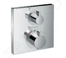 Hansgrohe Ecostat Square - Termostatická batéria pod omietku s uzatváracím ventilom, chróm 15714000