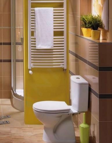 Kolo Rekord - WC kombi s hlubokým splachováním, svislý odpad, bílá K99005000