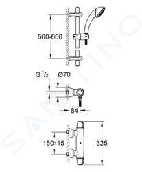 Grohe Grohtherm 3000 - Termostatická sprchová baterie, chrom 34196000