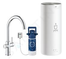 Grohe Red - Miscelatore per lavello Duo con boiler e sistema di filtraggio, serbatoio L, cromato 30079001