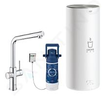 Grohe Red - Miscelatore per lavello Duo con boiler e sistema di filtraggio, serbatoio L, cromato 30325001