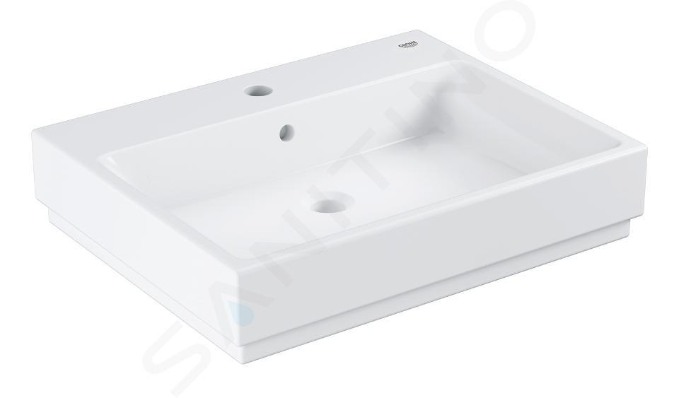 Grohe Cube Ceramic - Waschtisch mit Überlauf, 600x490 mm, PureGuard, Alpinweiß 3947700H